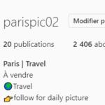 vendre un compte instagram qui parle de paris