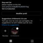Compte Instagram 2237 abonnés niche chiens et chats