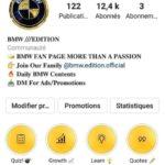 Compte insta fan page BMW 12,5K abonnés internationals