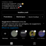 Compte Instagram sur l'humour avec 30,8k d'abonnés français