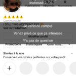 Vend compte instagram