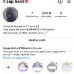 Compte Instagram actif