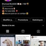 Compte insta humour 7,6k,abonnés français